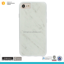Factory wholesale TPU and PC case for Iphone 7 7plus marble phone case, back case for Iphone 7 7plus