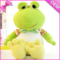 OEM factory plush frog toys green plush toys stuffed animals with sound