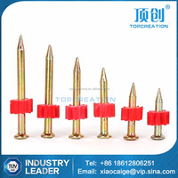 High-strength cement nail shooting nails with red washer concrete shooting nail