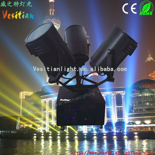 nfl wholesale nfl moving sky light,Outdoor three heads 5000w sky projector