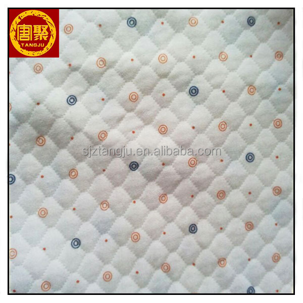 100% Cotton Printed Flannel Quilted Fabric for Baby