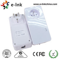 Ethernet Powerline Adapter with Power Socket Up to 600Mbps