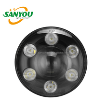 sanyou lighting dot & e-mark 7 inch H/L beam led headlight mask for jeep/harley motorcycle 30w