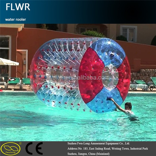 popular water game inflatable human roller for adult and children with good quality water boll