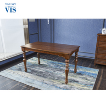 Hot Selling Luxury Decorative Square Wooden Dining Table With Chair