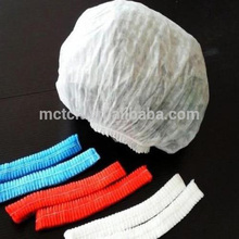 Plastic high quality bouffant cap food industrial disposable nonwoven pp fabric clip cap/hair net