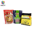 Laminated custom ziplock stand up pouches dog cat pet food packaging bag