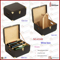 excellent wood leather large decorative 6 bottle gift boxes for wine bottles