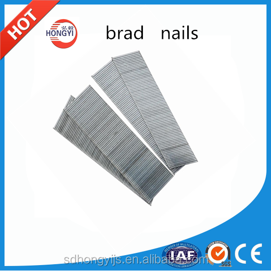 Best sale brad nail used for woodworking,pneumatic gun nail with 18 GA,brad nails with price