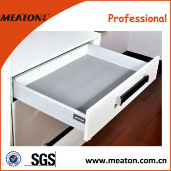 Top quality!! Factory made solf close triple extension with wall drawer slide
