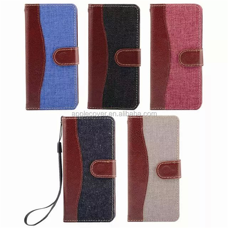 double color wallet leather cover case for ipod touch 6