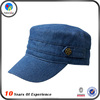 wholesale cool denim flat top hat designer
