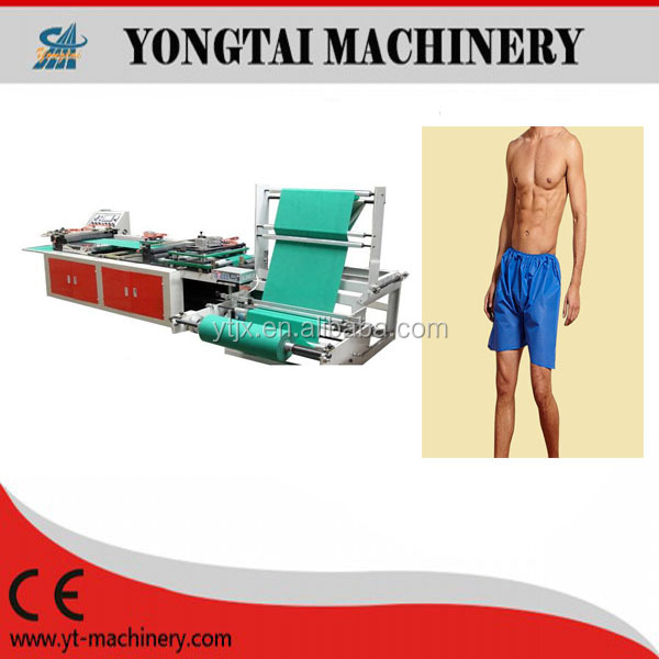disposable Boardshorts Non Woven Cloth Swimming Shorts making Machine