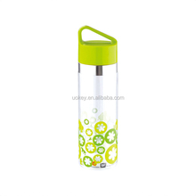 BPA Free Plastic 18 oz 500ml Stainless Steel Decoration Clear Water Bottle With Handle, Campus Water Bottle Manufacturing