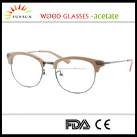 metal wood eyeglass frame acetate optical glasses frame