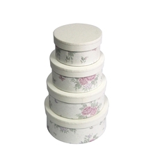 custom high quality round packing box with flower