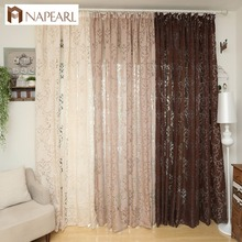 NAPEARL Keqiao supplier bubble yarn fabric curtain fashion style kitchen door curtains