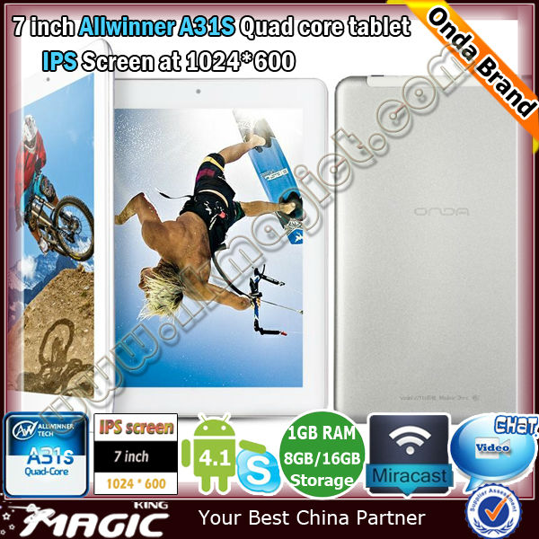 Brand new android boxchip allwinner a31 quad core tablet