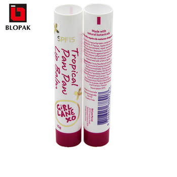 LDPE Round oval empty plastic tube for lip balm