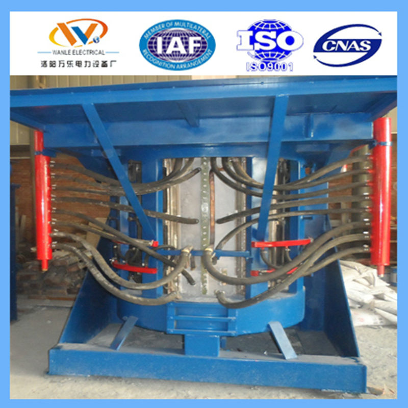 5T tilting type rotary smelting oven for foundry melting steel iron