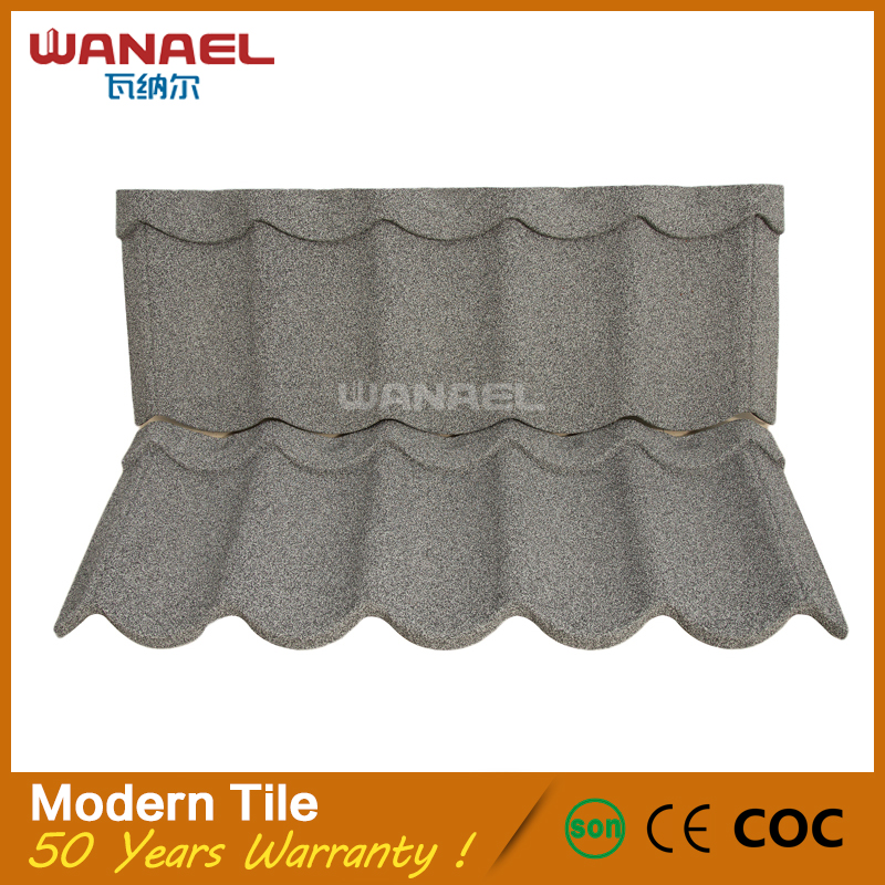 Wanael Modern Environment Friendly Easy Installation Metallic Plain American Roof Tiles