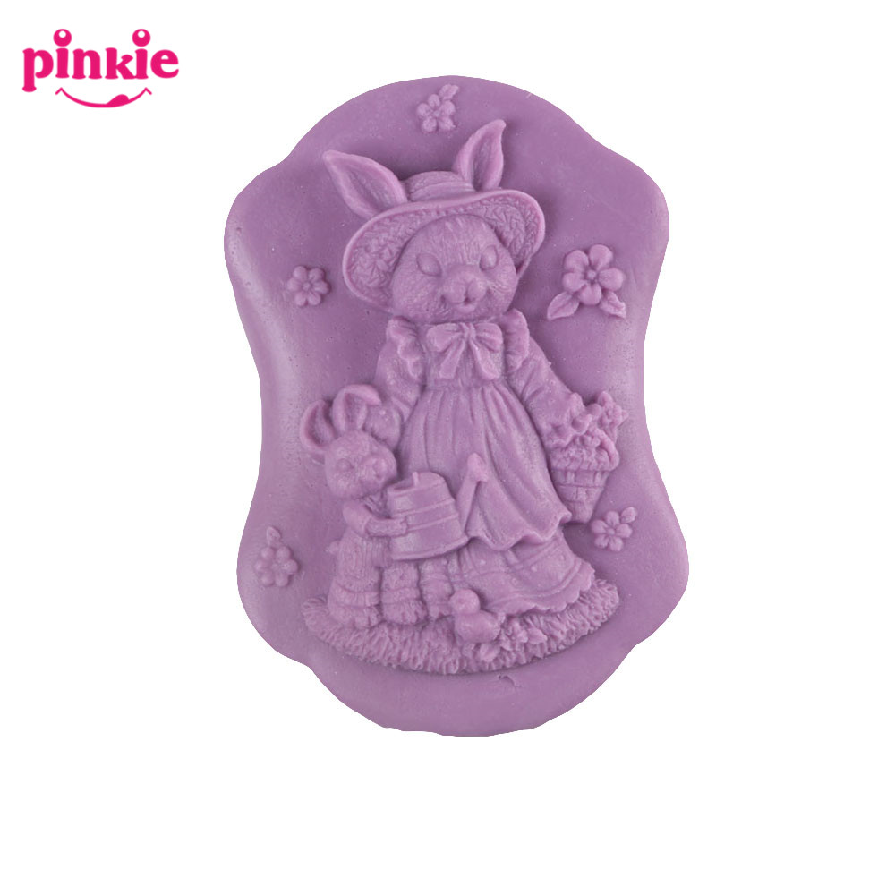 Z262 Brand New Rubbit Shaped Soap Molds <strong>Silicone</strong> With High Quality