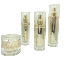 Transparent Luxury gold acrylic face cream lotion container / jar / packaging for cosmetic face care