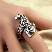Glitta New Arrive lasted design cheap price Fox shape rings Animal Jewelry Fox Ring GR1505