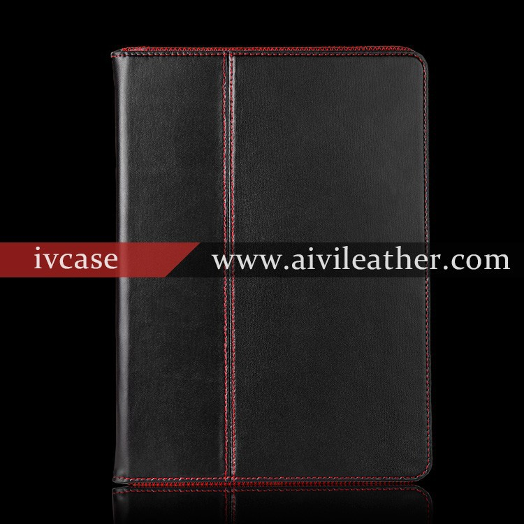 Genuine leather tablet case for ipad air minion case tablet case