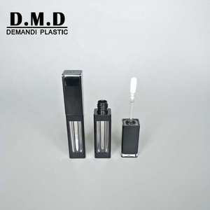 Low MOQ clear empty 5ml 6ml black lipgloss tubes