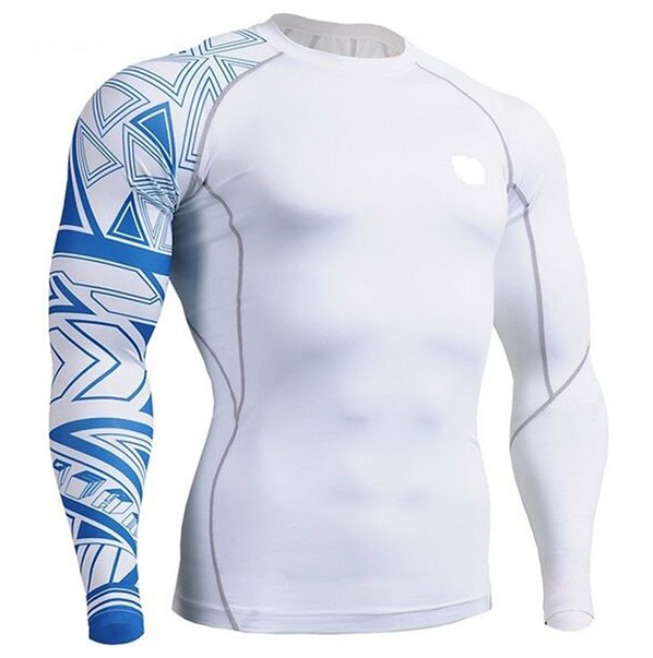 Sublimation tight upf 50+ men's long sleeve rash guard