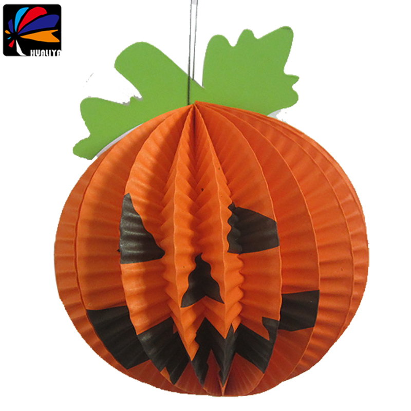 Handicraft for children hallowen pattern fold paper lantern