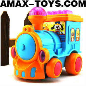 elec-0224455 Toys train Electric cartoon mini train with beautiful music and flashing lights