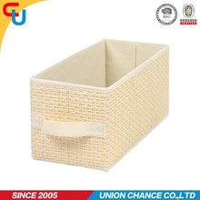 Beige-colored paper fabric storage drawer