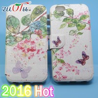 2016 new style Color Printing Wallet PU Leather Case Cover for iphone 6/6S