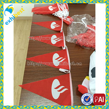 Wholesale Custom Paper Banners Triangle Bunting Gold Printing Paper Flag
