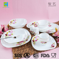 Hot selling high quality opal glass dinnerware 78 pcs opal dinner set
