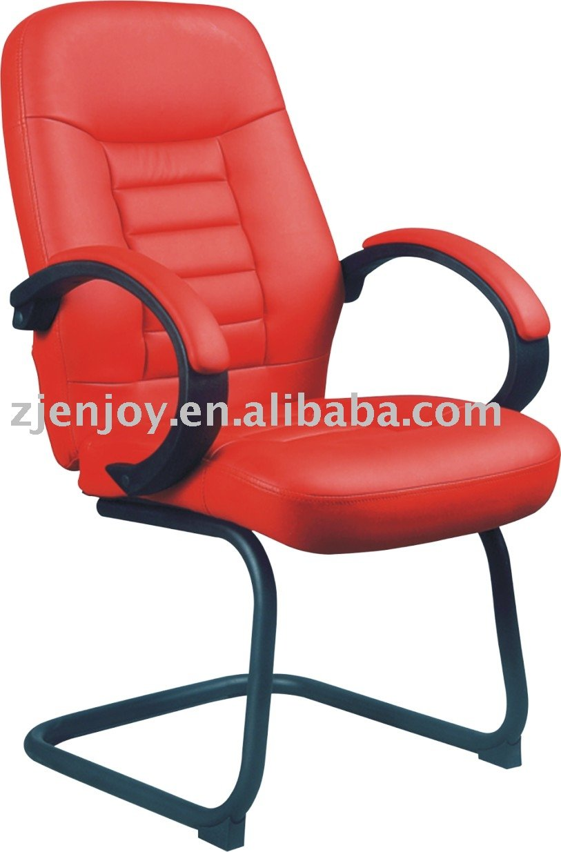 Red color high back leather seat office chair (KB-9601C)