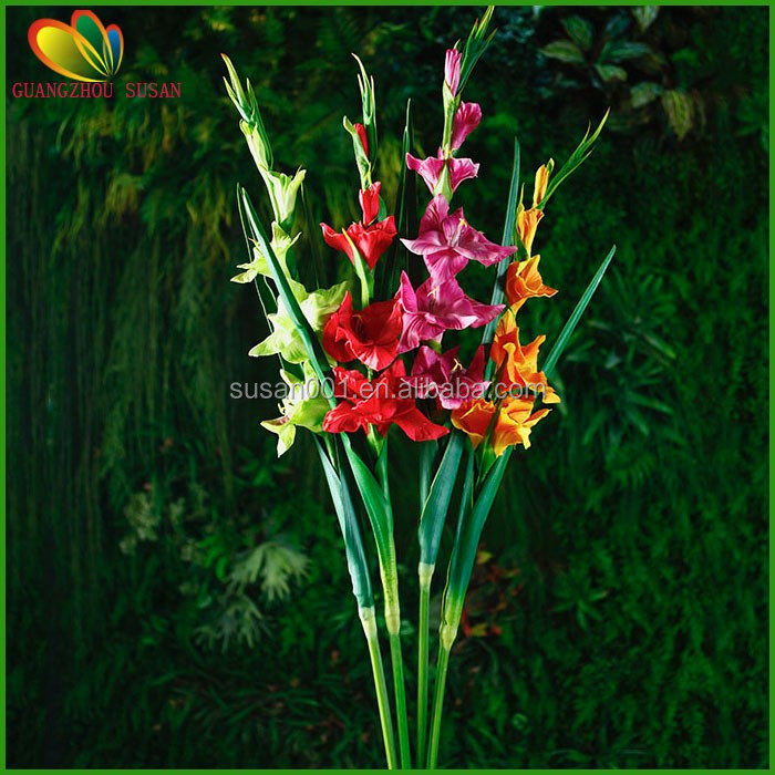 Real touch PU artificial gladiolus flower bulbs for home decoration