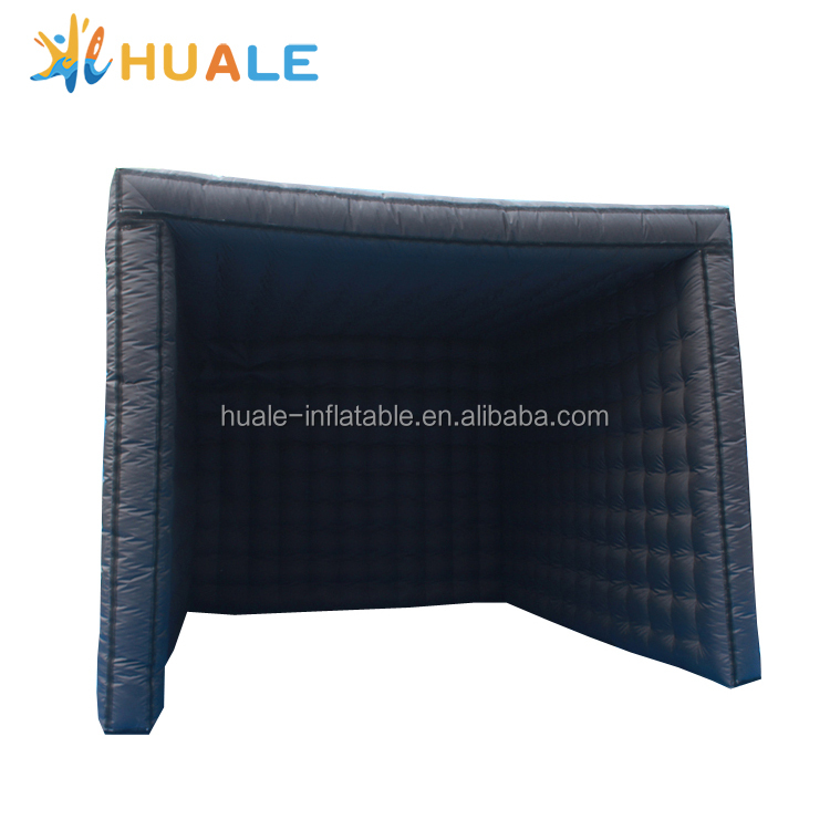 Customized inflatable tent/black square tent/commerical inflatable photo booth for sale