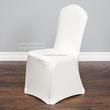 White Wholesale Cheap Wedding Spandex chair covers for banquet