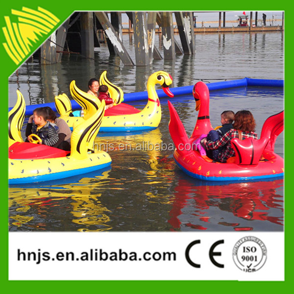 Outdoor playground kids water rides inflatable boat