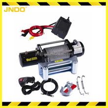 Series wound motor 12V electric winch 9500lbs