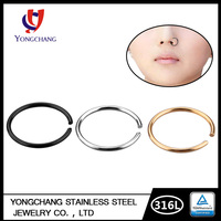 New Fashion Cheap Sexy No Allergy Stainless Steel Indian Tradition Nose Ring Jewelry
