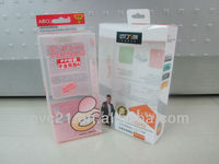 2013 new fashion clear acetate PP plastic frosted cometic box