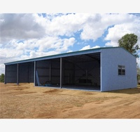 customized economic widely hotel steel metal shed house customized design