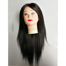 80% hair with 20% synthetic hair 20inch wholesale mannequin head