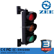"3 Year Warranty IP65 Waterproof 100mm LED Mini Traffic Semaphore Light, UV-stabilized PC 4"" LED Traffic Light Manufacturers"
