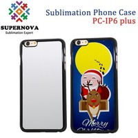 Hard PC Plastic Sublimation Cell Phone Cases for iPhone 6+ Plus, 5.5 inch