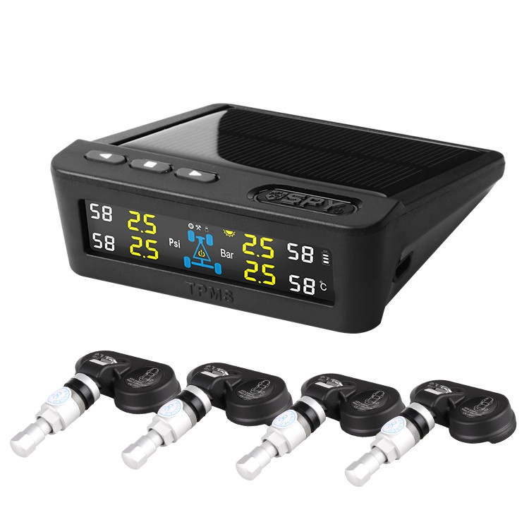 Newest Solar Power Car TPMS Tire Pressure Monitor System With Internal Sensor